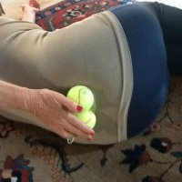 self treatment of the facet joints with a tennis ball