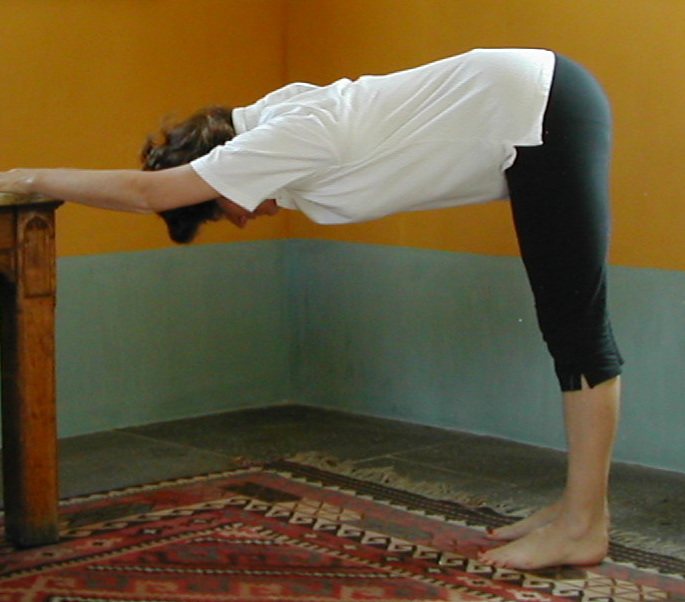 Half forward bend or Table Stretch