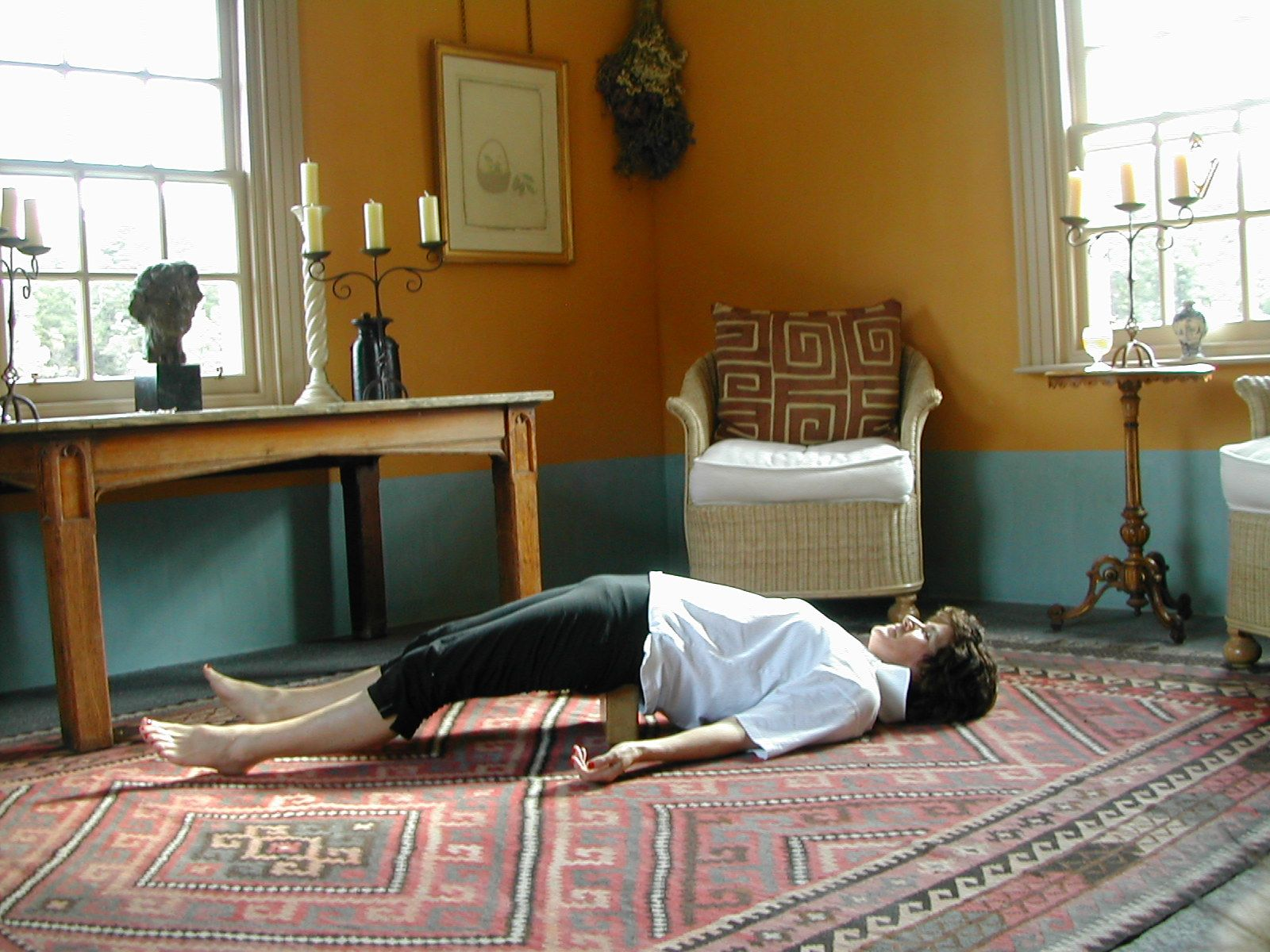 The Lumbar BackBlock is exercise 10 in Sarah Key's list of the best yoga for lower back pain