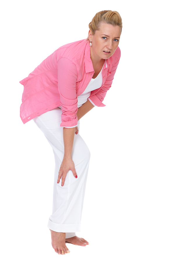 Lady with Sciatica leg pain