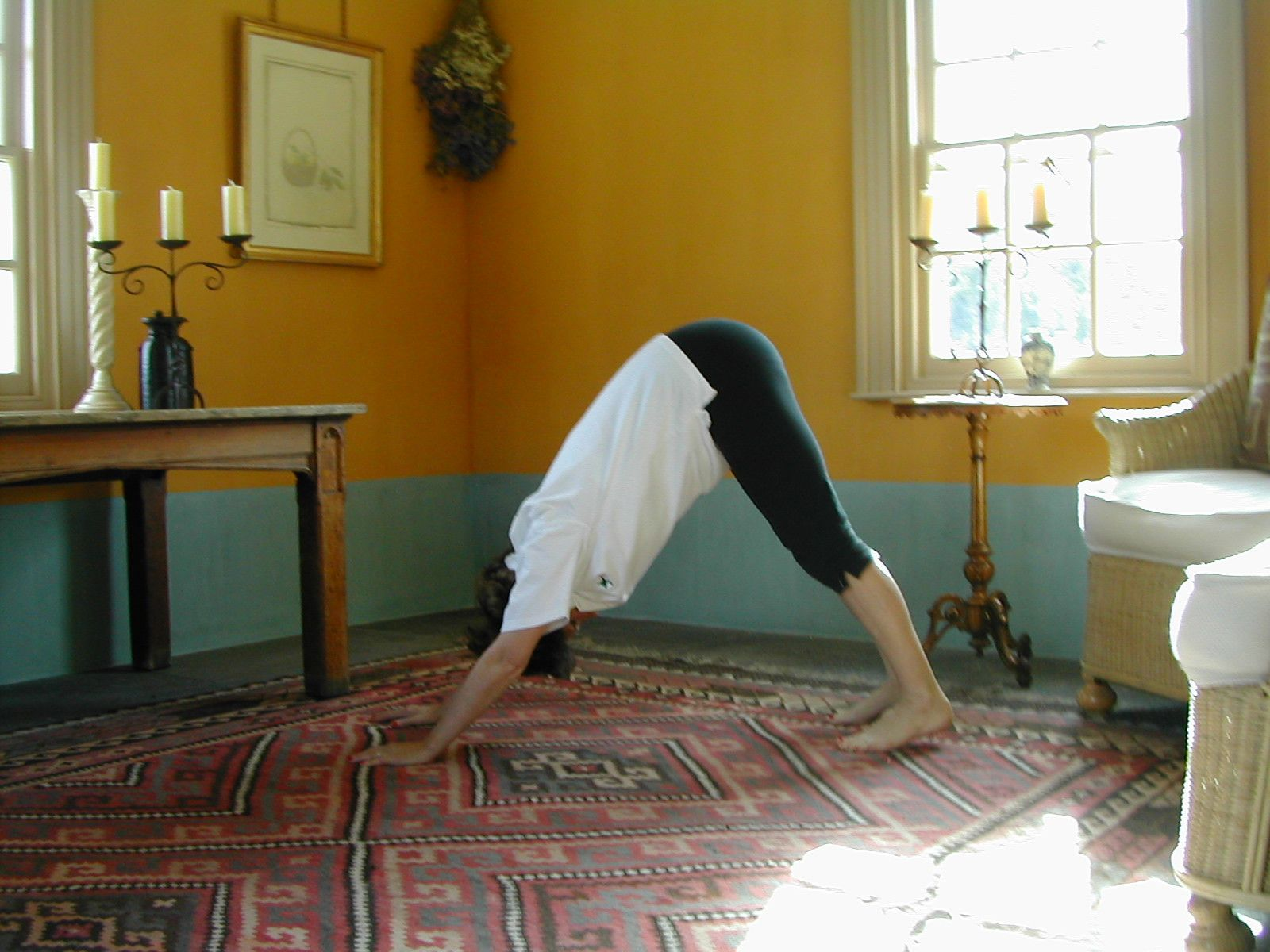 Downward Dof Stretch is exercise 7 in Sarah Key's list of the best yoga for lower back pain