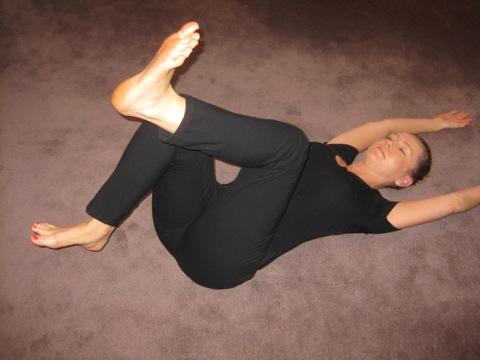 Sarah Key's legs passing exercise