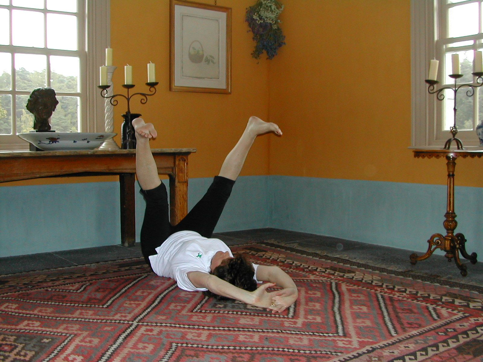 Lower Abs Strengthening is exercise 2 in Sarah Key's list of the best yoga for lower back pain