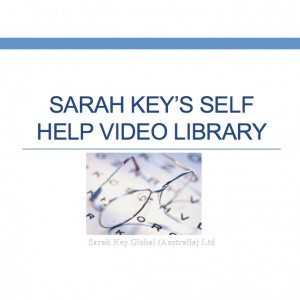 Sarah Key's Self Help Video Library