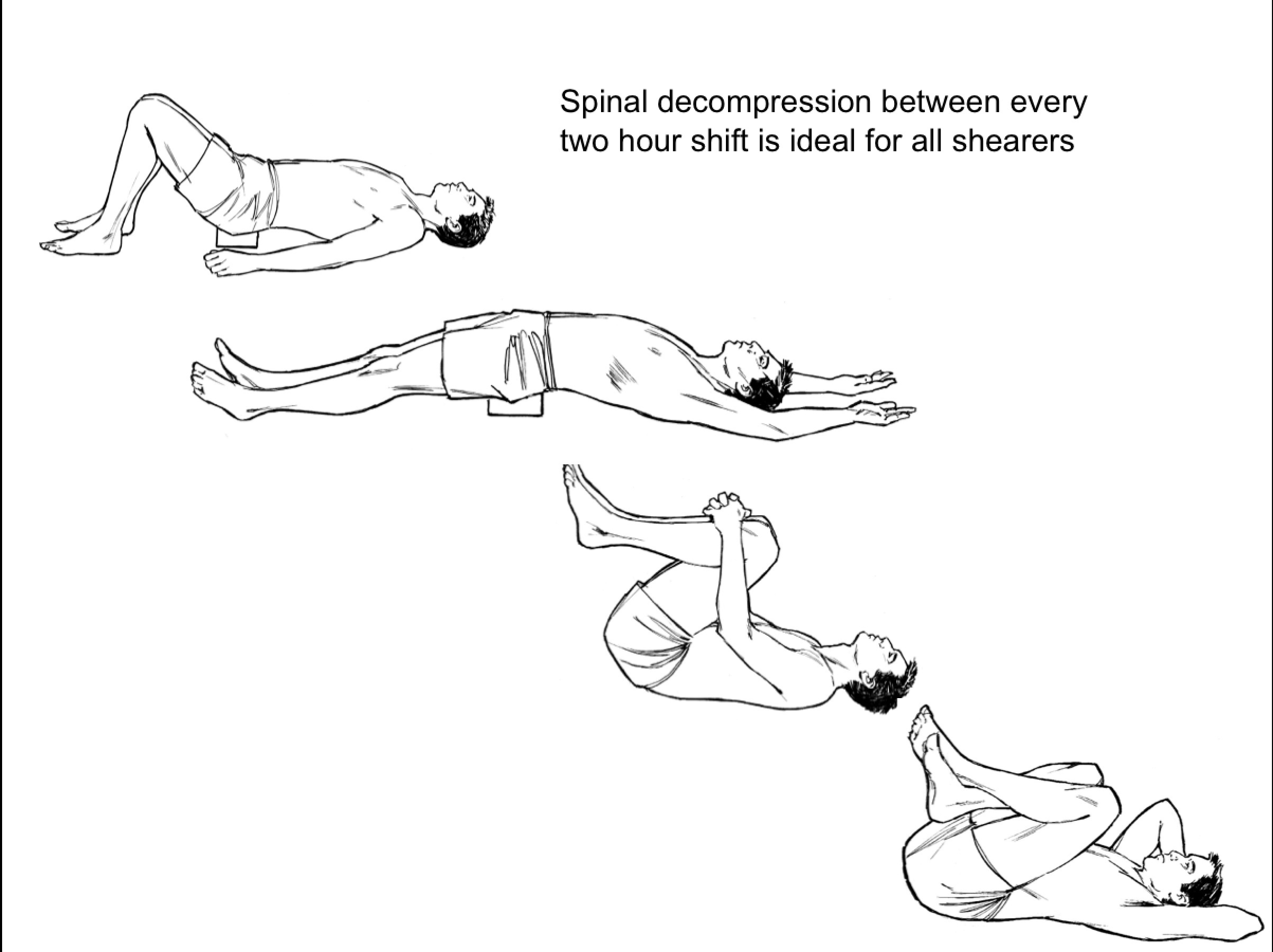 Sarah Key's BackBlock regime consists of three simple steps - passive hyper-extension, knees rocking and reverse curl ups