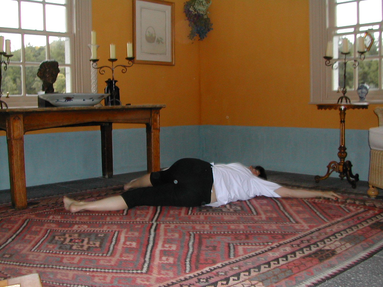 Advanced Sciatic Nerve Stretch 2 is part of exercise 4 in Sarah Key's list of the best yoga for lower back pain