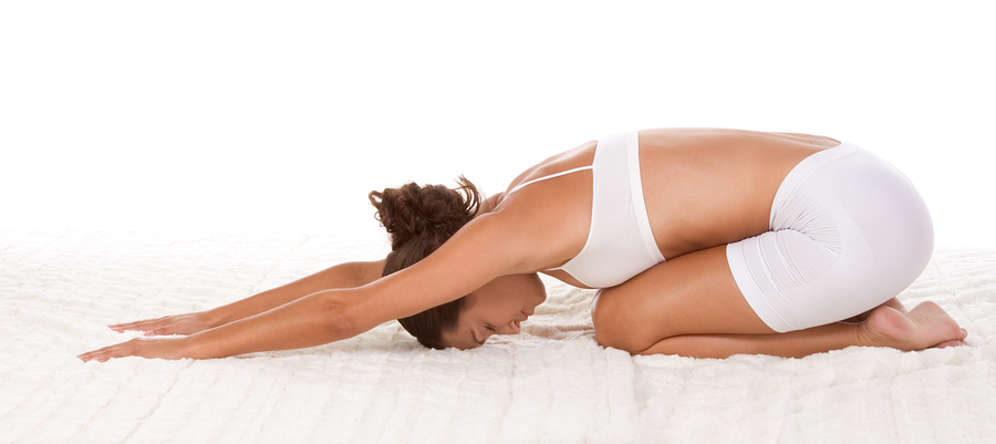 The Pose of the Child os the most gentle way to start bending the spine