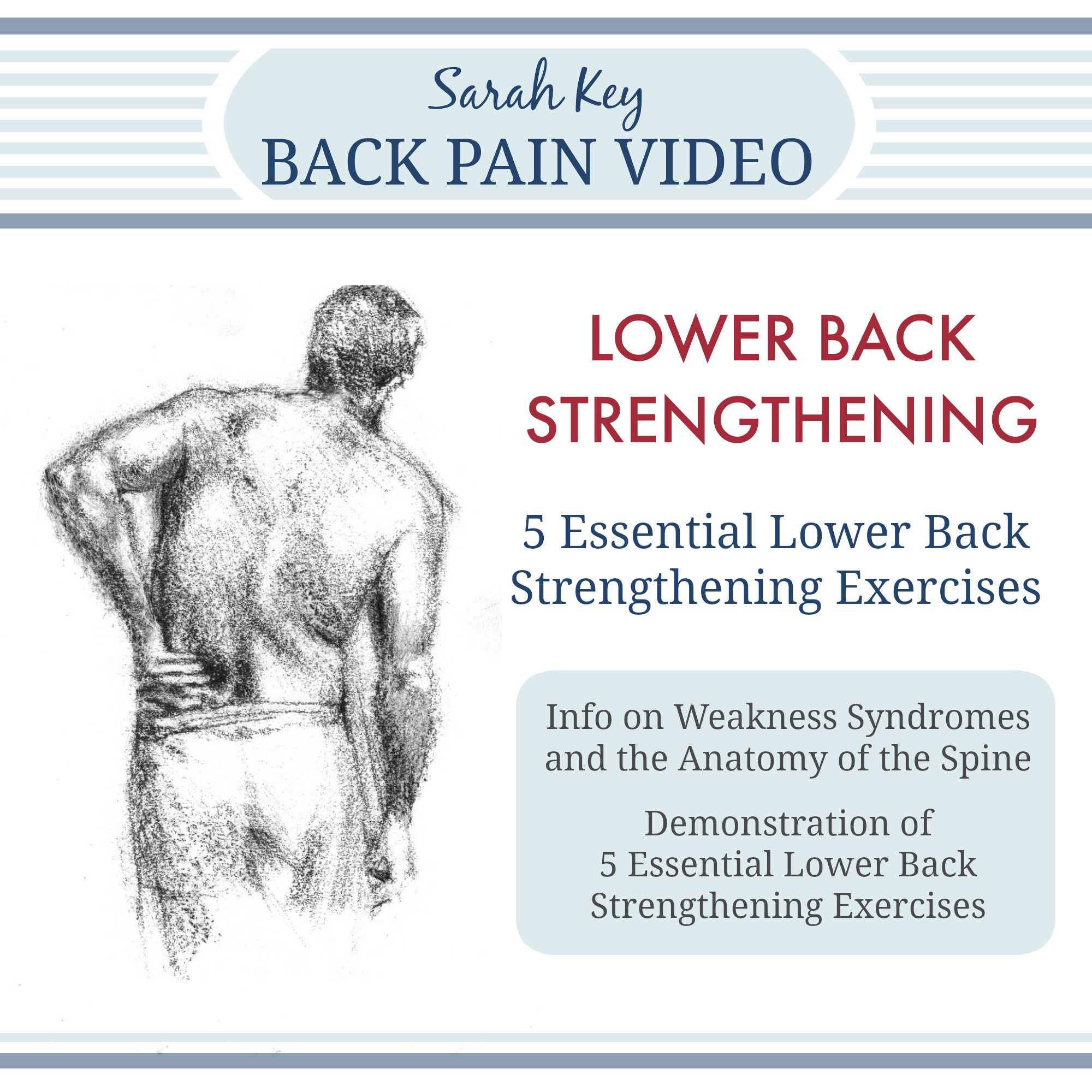 5 Essential Lower Back Strengthing Exercises Video Graphic