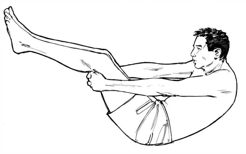 Spinal rolling is small see-sawing oscillations on the rounded lower back, trying to pivot on the point of pain.